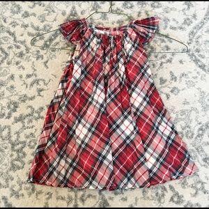 Gap Toddler Girls Red Plaid Christmas Dress—2T